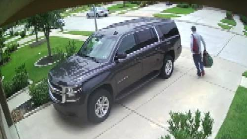 Couple hopes video will help ID thieves who they say stole $50K worth of property from Klein home