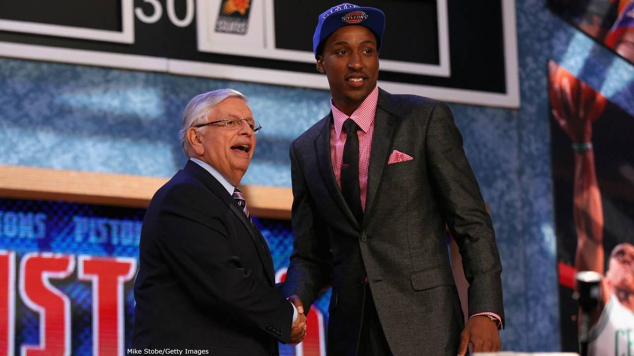 Kentavious Caldwell-Pope Pistons at NBA Draft 2013