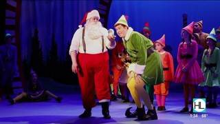 "Buddy from ""Elf: the Musical"" spreads Christmas cheer on our studio."