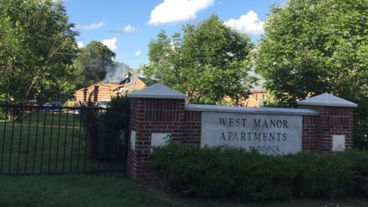 West Manor apartment complex fire scene 2