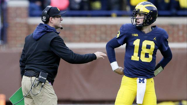 Brandon Peters first start Jim Harbaugh Michigan football vs Rutgers 2017