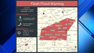 Flash flood warning issued for parts of Southwest Virginia