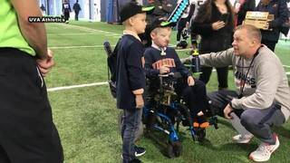University of Virginia football team recognizes boy with skin disorder&hellip&#x3b;