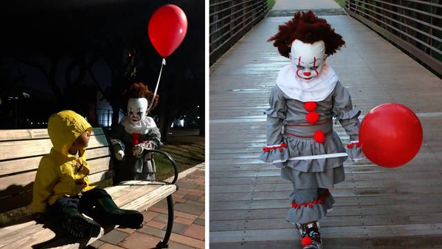 san antonio when 4 year old emmett struggled to find a pennywise costume for halloween his mom took matters into her own hands hand crafting a