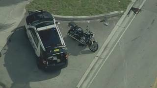 North Miami Beach police officer injured in crash while on motorcycle
