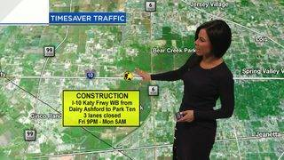 Weekend road closures pose challenge for drivers in Galleria area