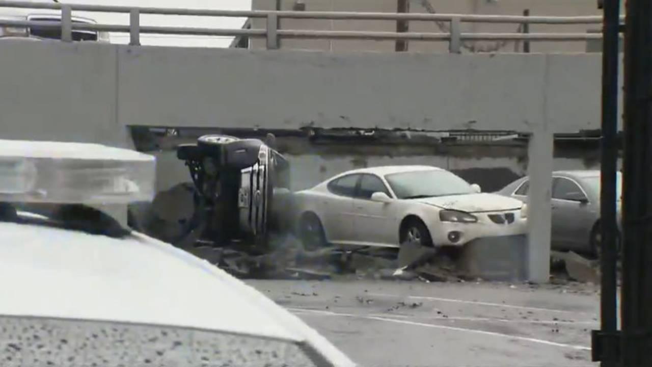 Detroit parking deck collapse 6