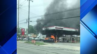 Dramatic Video Shows Car Fire At Speedway Gas Station In