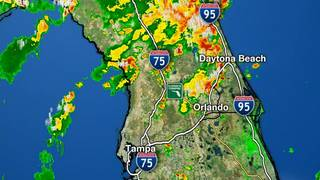 Strong storms strike Central Florida