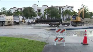 Water main break in Doral affects numerous businesses