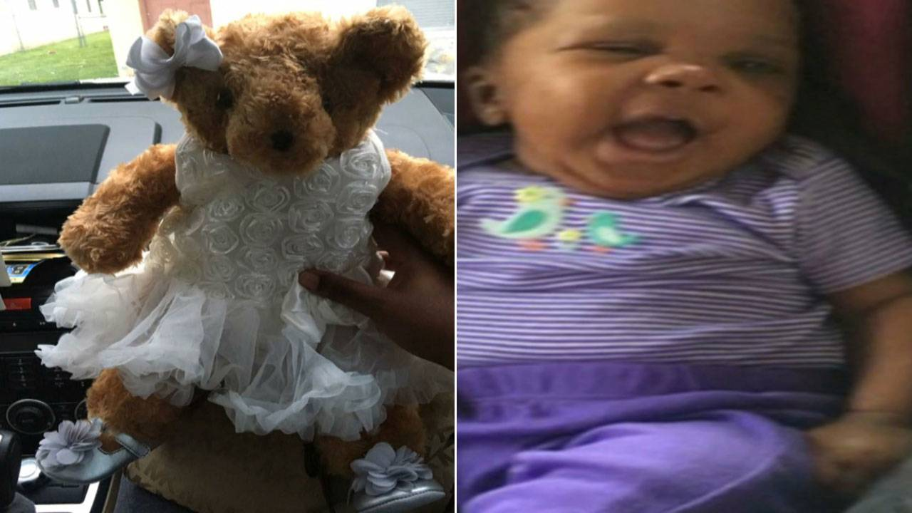 La'Vae McKinney and ashes in teddy bear