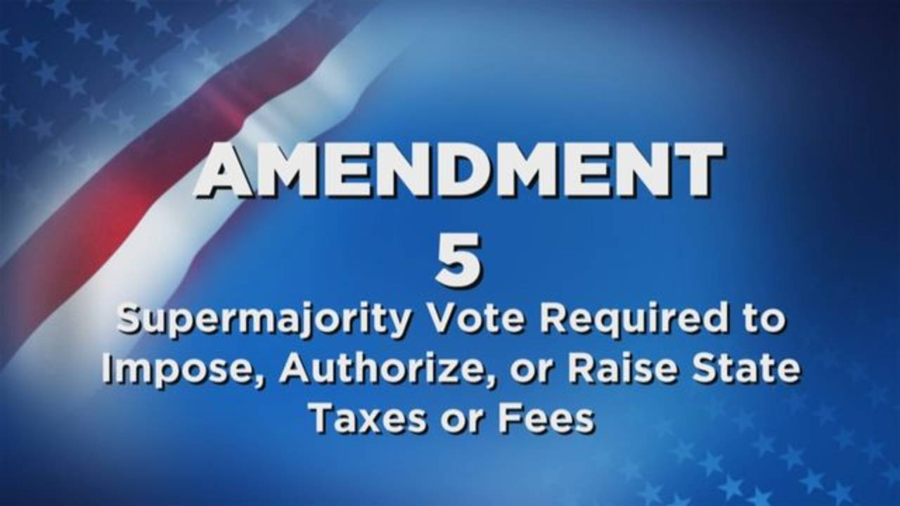 Amendment 5 Supermajority Vote Required to Impose, Authorize, or Raise State Taxes or Fees