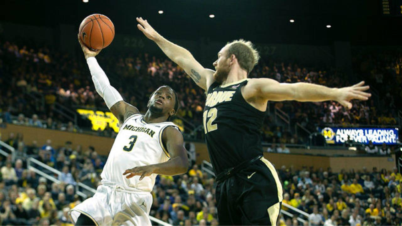 Zavier Simpson Michigan basketball vs Purdue 2018