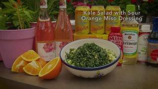 H-E-B Backyard Kitchen: Kale Salad with sour orange Miso dressing