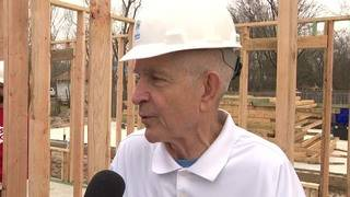 Employees of Gallery Furniture build new Habitat home