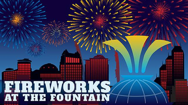 Fireworks at the Fountain poster