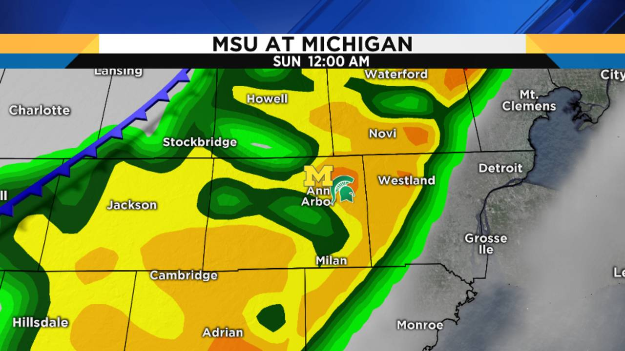 Michigan Michigan State Game Weather Forecast Potentially