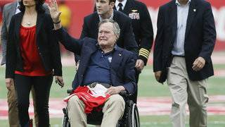 George H.W. Bush to remain in hospital to regain strength, spokesman says