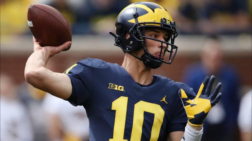 Dylan McCaffrey Michigan football vs Nebraska 2018