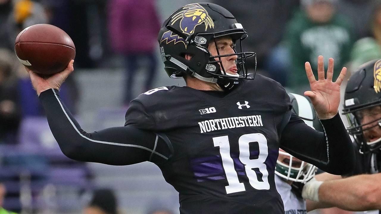 Clayton Thorson Northwestern football vs Michigan State 2017