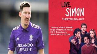Orlando City soccer player buys 'Love, Simon' showing at local theater