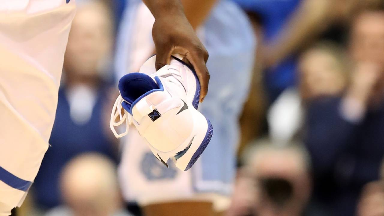 dfe7673c514d19 Nike s stock falls after Duke star is hurt as his sneaker...