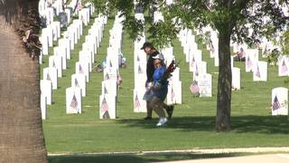 Families pay respect to loved ones at Fort Sam Houston Cemetery on&hellip&#x3b;