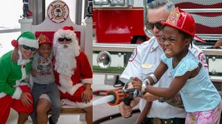 Miami Fire-Rescue holds 'Christmas in July' for kids at Holtz Children's&hellip&#x3b;