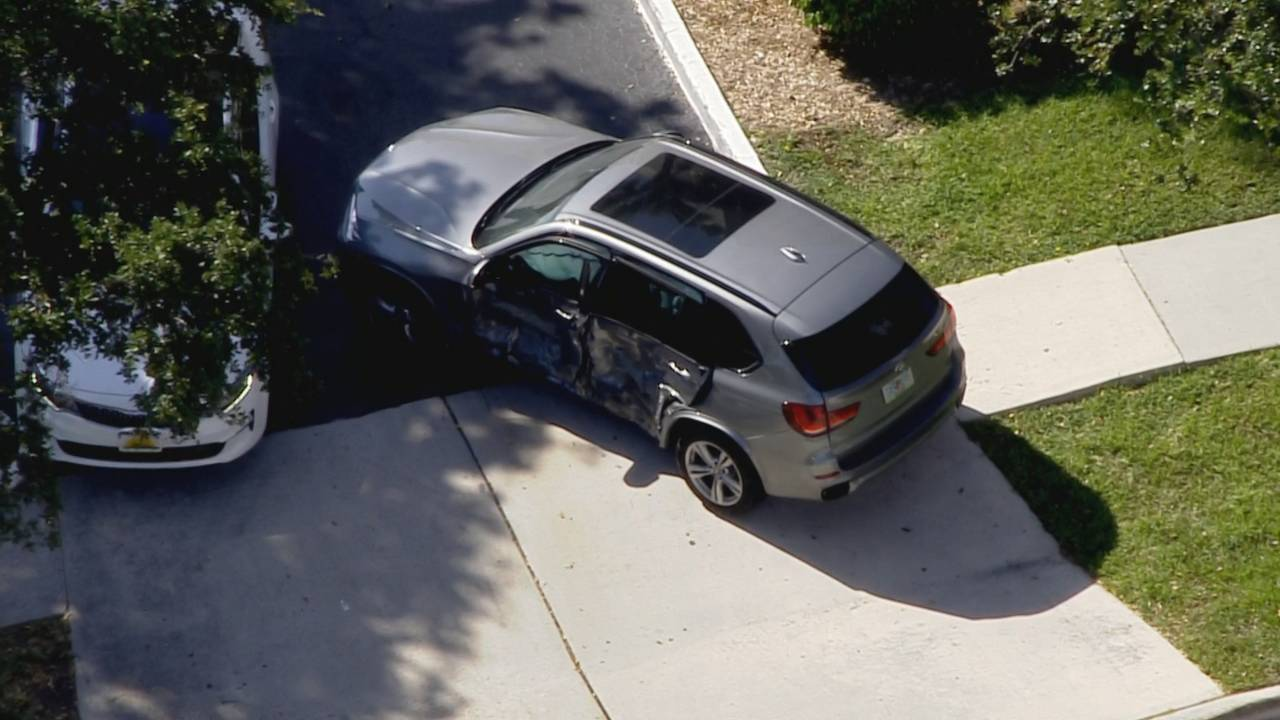 Damaged BMW SUV in Fort Lauderdale