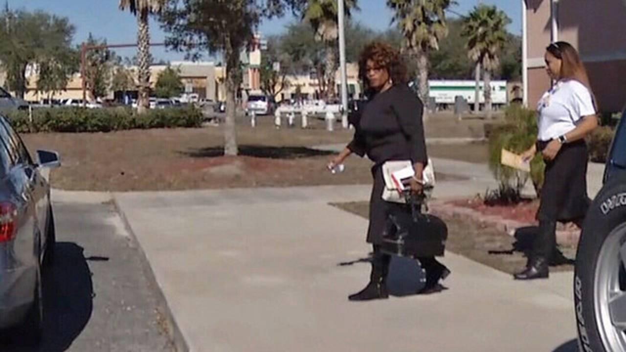 Corrine Brown leaving Clay County MLK breakfast