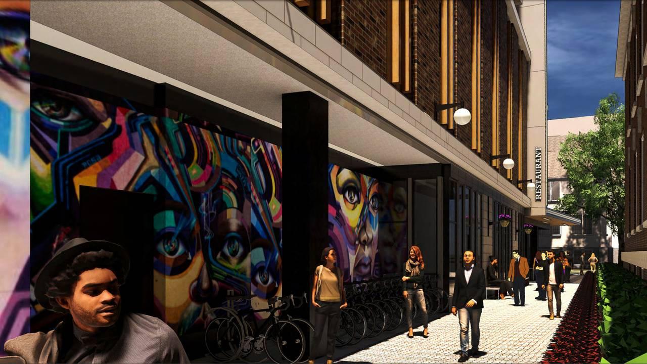 600 E. Washington Ground level art