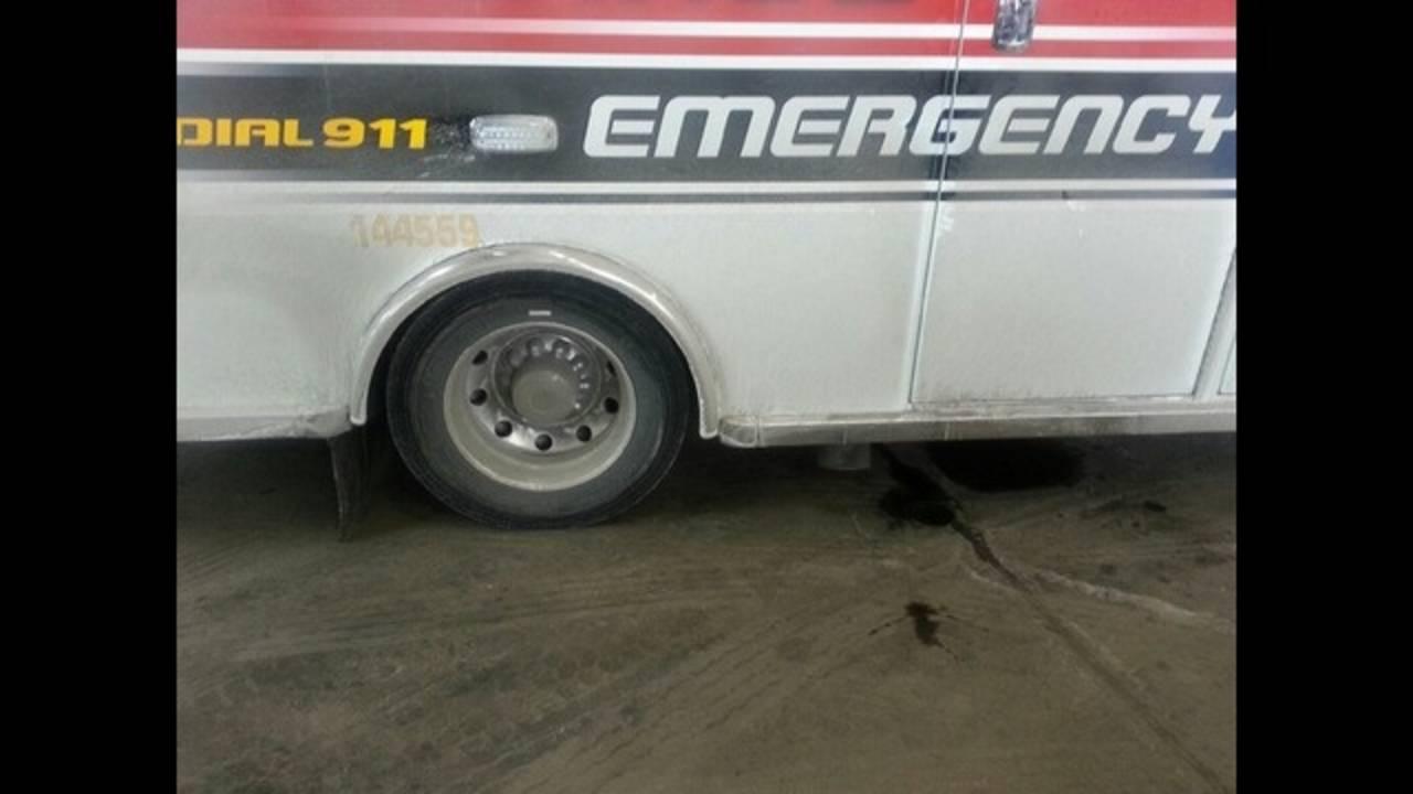 Broken down Detroit EMS truck_24604398
