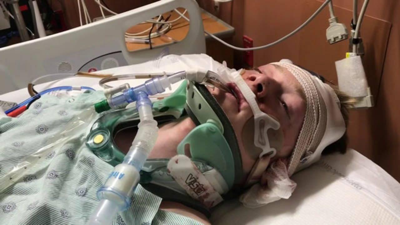 James Critz in hospital bed