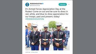 Armed Forces Appreciation Day at Houston Rodeo