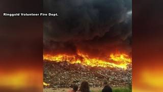 Landfill fire in Ringold
