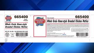 Pilgrim's Pride issues nationwide recall for select chicken patties