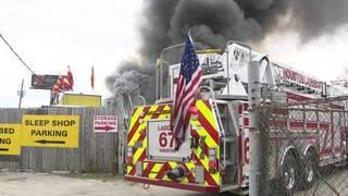 PHOTOS: Fire destroys north Houston furniture business