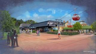 Gondola-like skyliner cabins to transport guests throughout Disney