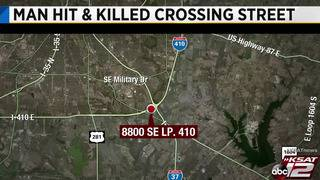 Man hit, killed by vehicle while attempting to cross SE Loop 410 accessroad