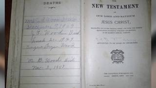 Bible mystery in Baytown: Group searching for family's descendants