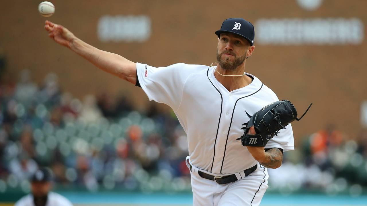 Shane Greene Detroit Tigers vs Royals 2019 home opener