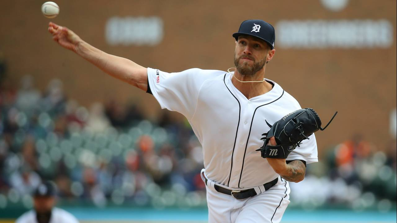Shane Greene Detroit Tigers vs Royals 2019 home opener