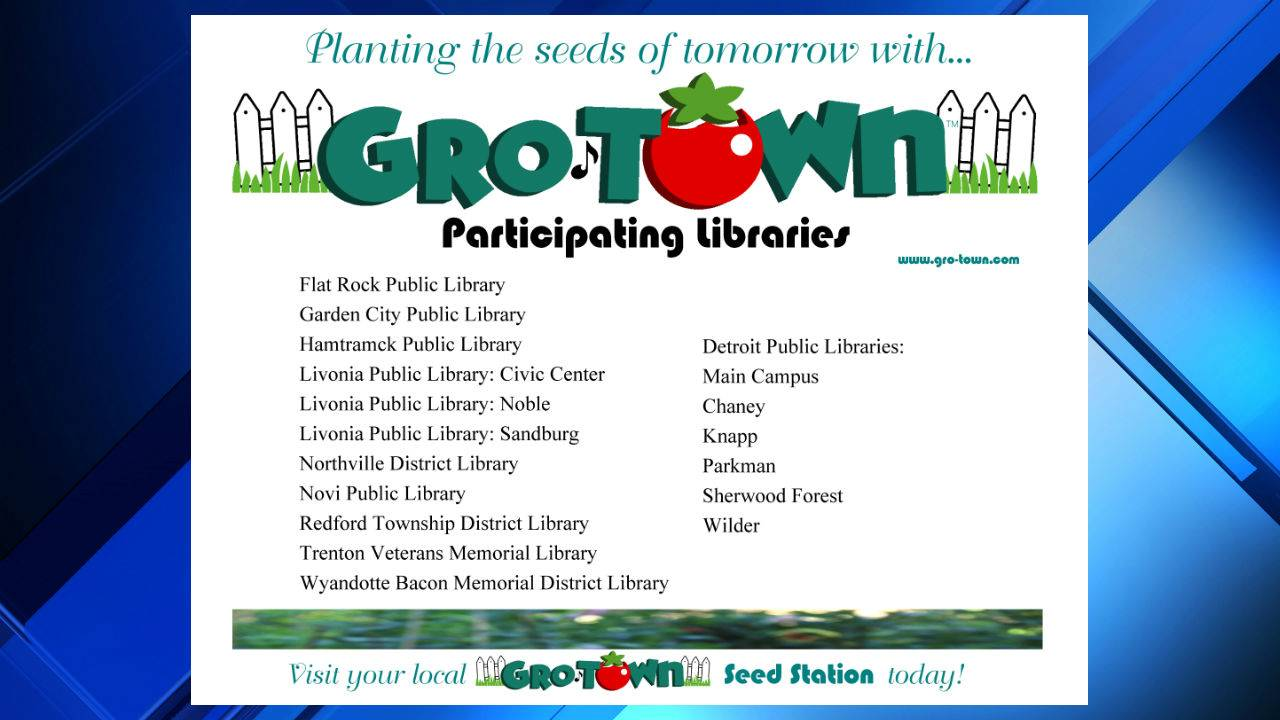 Metro Detroit Libraries Host Free Gro Town Seed Stations
