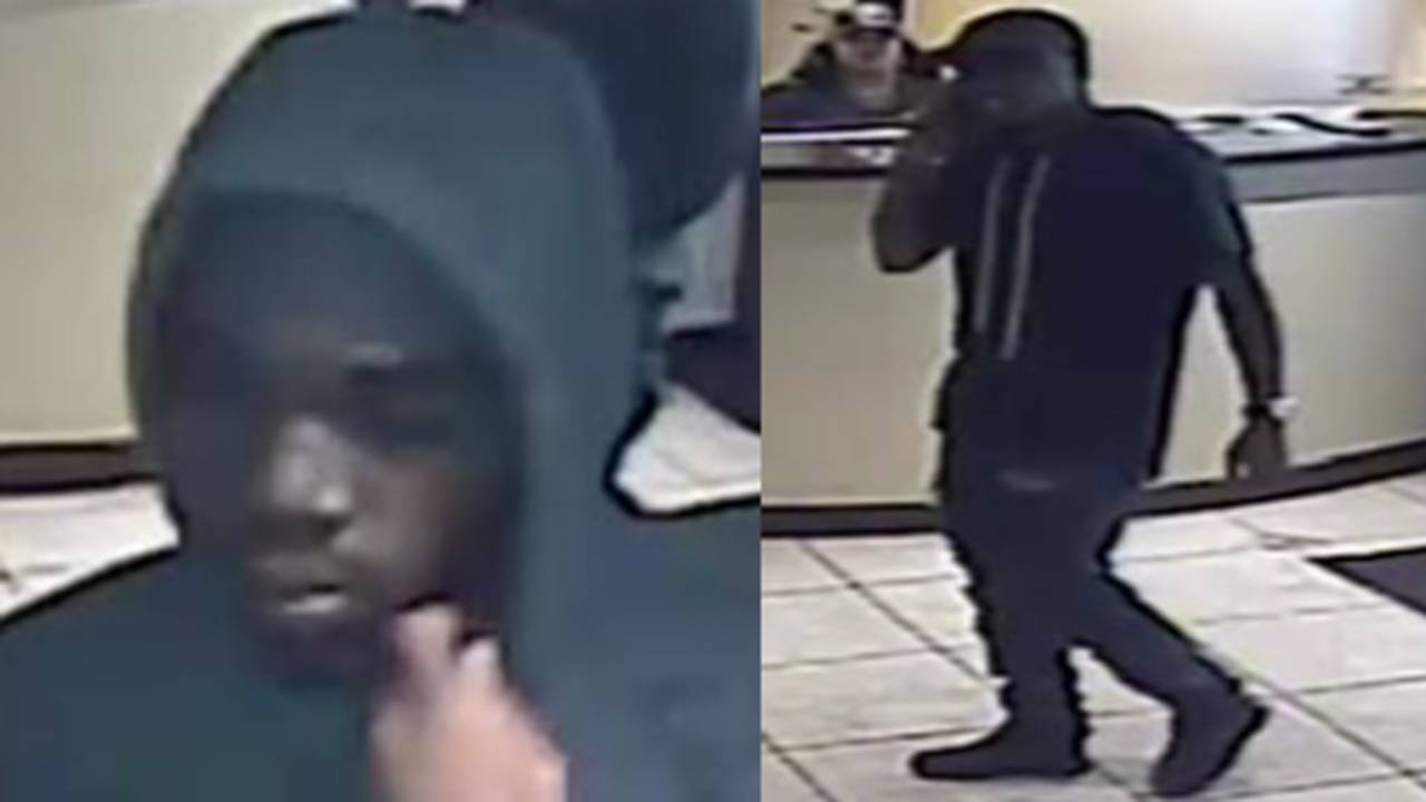 Surveillance image of men involved in robbery at 125 Clinic