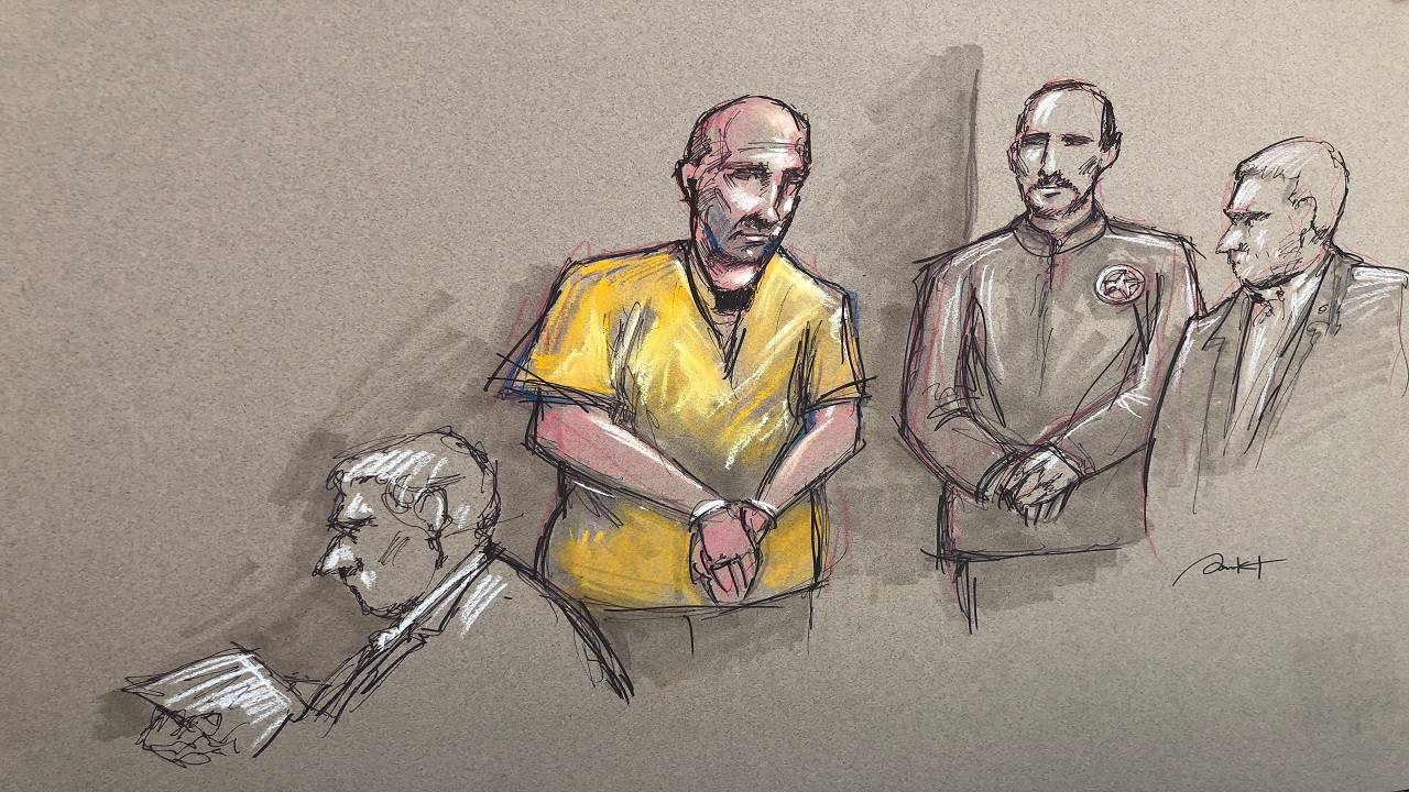 Sketch of Abdul-Majeed Marouf Ahmed Alani in federal court