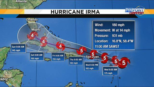 Irma track 11am