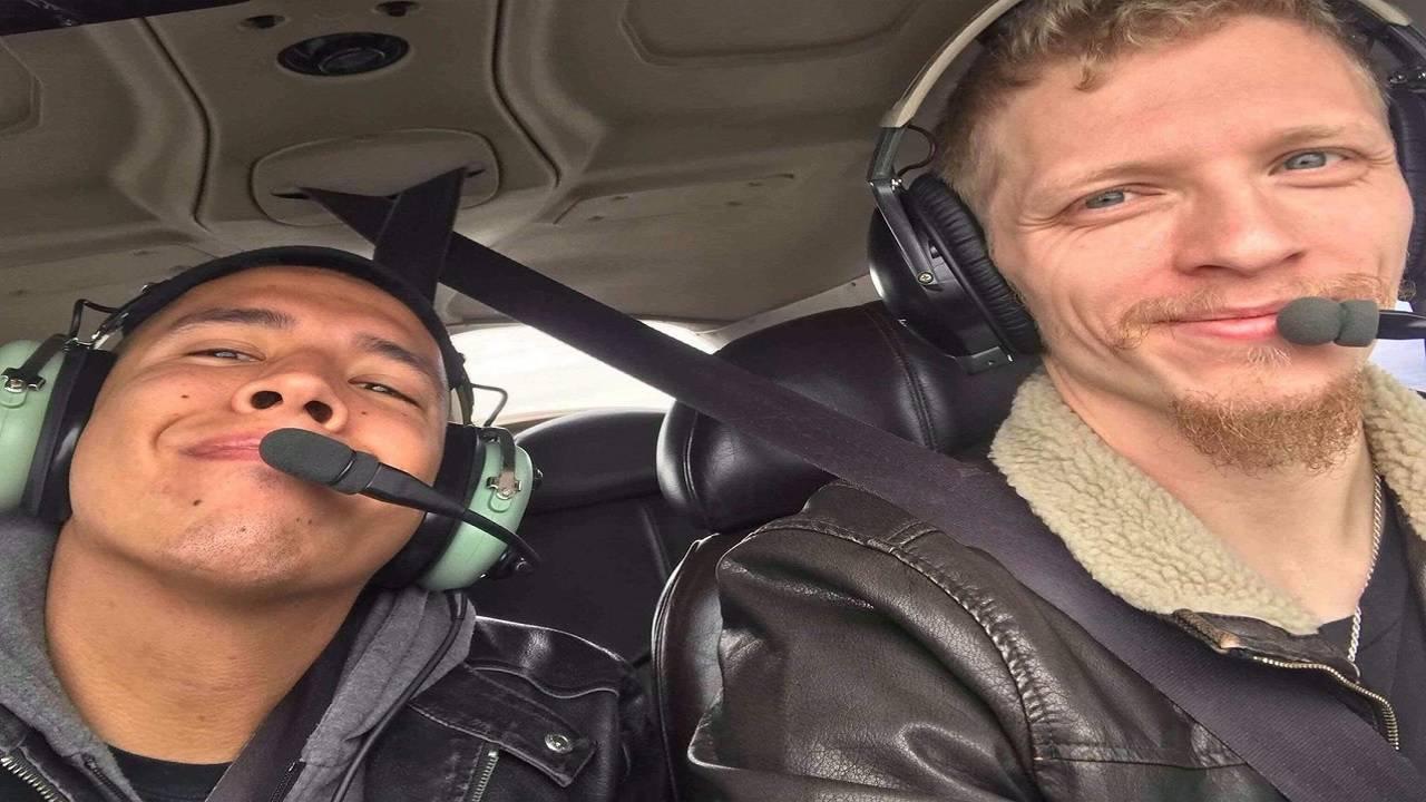 Derek Morgan, 28, with his close friend, Patrick C.
