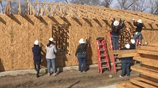 Volunteers work final day to build Habitat for Humanity home