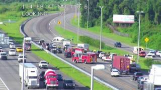 4-vehicle crash closes I-4 West in Volusia