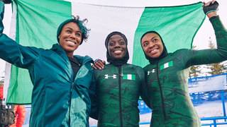 PHOTOS: Nigerian bobsled team prepares for Olympics